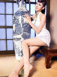 腿长的美女穿旗袍 长腿